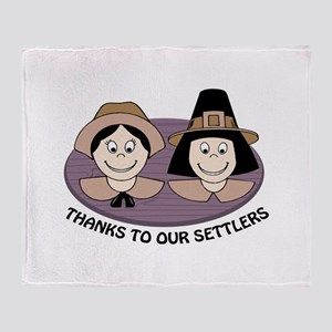 Thanks to our Settlers Throw Blanket